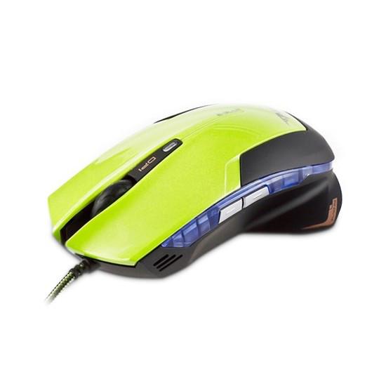 Мышь, E-Blue, Mazer EMS124GR, Оптическая, 600/1200/1800/2400dpi, Проводная, Зелёный