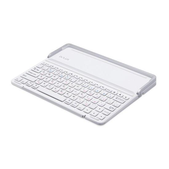Клавиатура, Delux, PKO1H IStation (High configuration), Для IPad/iPhone, Bluetooth, Белый