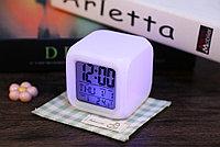 Часы будильник 7 цветов подсветки, фото 1