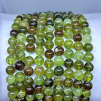 Гранат зеленый натуральный (демантоид, уваровит), 6мм
