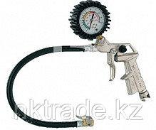 Пистолет для накачки шин 25/D 11/A, металлический корпус с клапаном сброса давления, с манометром Ø6