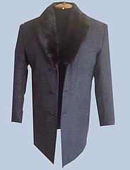 Мужское пальто с воротником с национальным узором