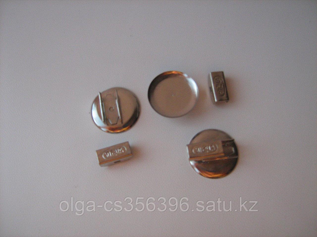 Основа для резинки (металл) цвет серебро 25 мм. Creativ 812