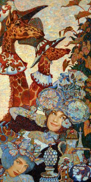 Постер Жирафы в манишках. Петр Фролов. Холст 70см*38см