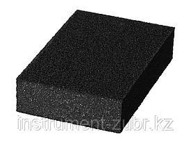 """Губка шлифовальная STAYER """"MASTER"""" четырехсторонняя, зерно - оксид алюминия, Р180, 100 x 68 x 26 мм."""
