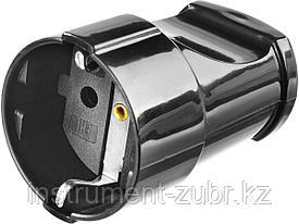 Розетка MAXElectro электрическая, 16А/220В, с заземлением, черная, STAYER