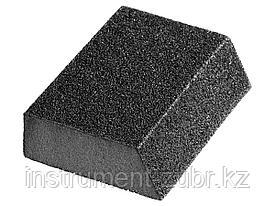 """Губка шлифовальная STAYER """"MASTER"""" угловая, зерно - оксид алюминия, Р120, 100 x 68 x 42 x 26 мм, средняя жесткость"""