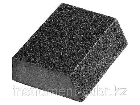 """Губка шлифовальная STAYER """"MASTER"""" угловая, зерно - оксид алюминия, Р120, 100 x 68 x 42 x 26 мм, средняя жесткость, фото 2"""