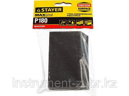 """Губка шлифовальная STAYER """"MASTER"""" угловая, зерно - оксид алюминия, Р180, 100 x 68 x 42 x 26 мм, средняя жесткость, фото 2"""