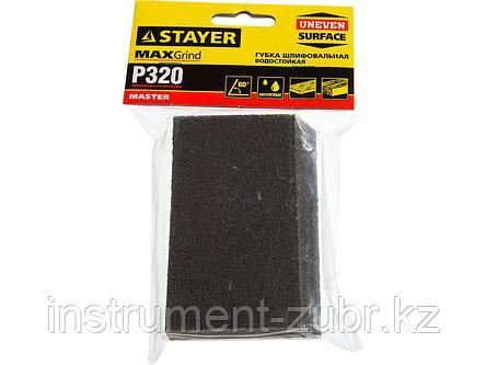 """Губка шлифовальная STAYER """"MASTER"""" угловая, зерно - оксид алюминия, Р320, 100 x 68 x 42 x 26 мм, средняя жесткость, фото 2"""