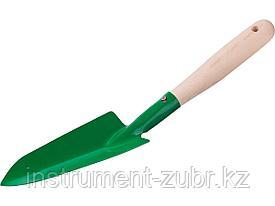 Совок посадочный РОСТОК с деревянной ручкой,узкий, рабочая часть 160мм