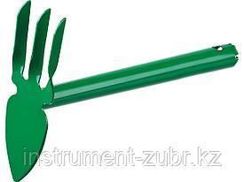 """Мотыга-рыхлитель, РОСТОК 421423, с металлической ручкой, """"лепесток+3 зуба"""" прямая, ширина рабочей части - 60мм"""