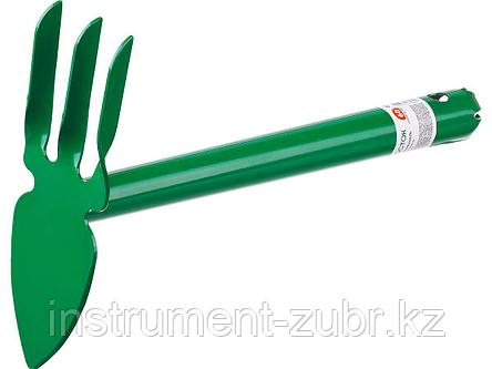 """Мотыга-рыхлитель, РОСТОК 421423, с металлической ручкой, """"лепесток+3 зуба"""" прямая, ширина рабочей части - 60мм, фото 2"""