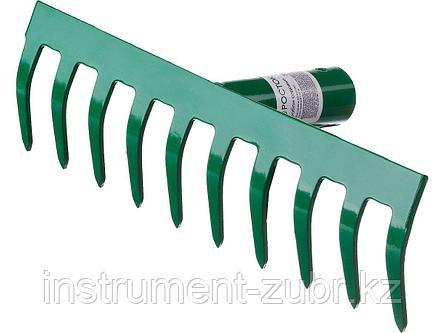 Грабли, РОСТОК 39610-10, 10 зубцов, прямые, 260x60 мм, фото 2