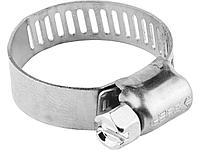 Хомуты, нерж. сталь, просечная лента 8 мм, 10-16 мм, 5 шт, ЗУБР Профессионал