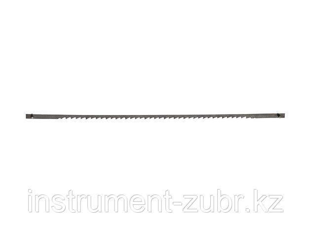 Полотно ЗУБР для лобзик станка ЗСЛ-90 и ЗСЛ-250, по мягкой древисине, сталь 65Г, L=133мм, шаг зуба 0,9мм (24 TPI), 5шт                                , фото 2