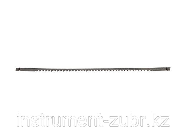 Полотно ЗУБР для лобзик станка ЗСЛ-90 и ЗСЛ-250, по тверд древисине, сталь 65Г, L=133мм, шаг зуба 2,5мм (10 TPI), 5шт                                 , фото 2