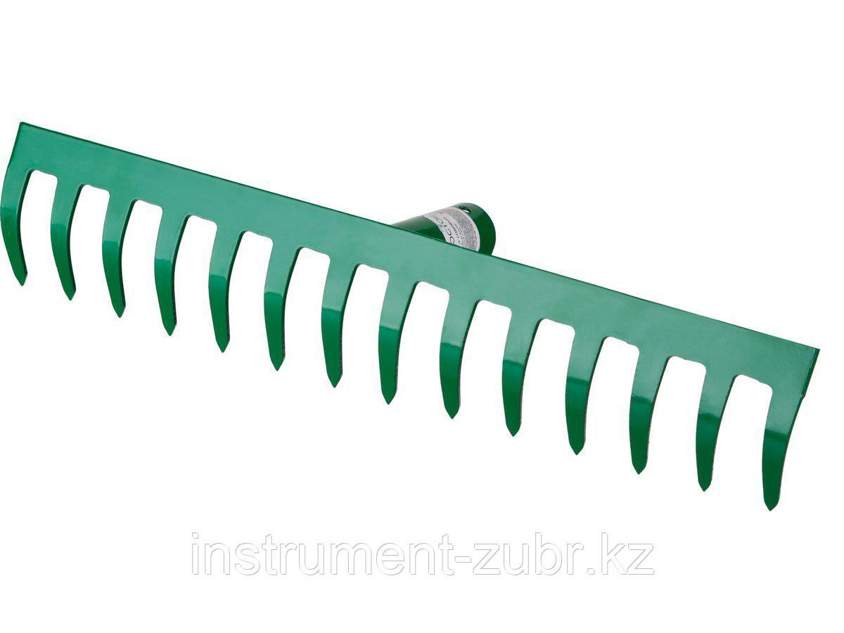 Грабли, РОСТОК 39610-10, 14 зубцов, прямые, 364x60 мм