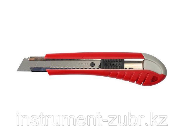 """Нож ЗУБР """"МАСТЕР"""" с выдвижным сегментированным лезвием, сталь У8А, 18мм                                                 , фото 2"""