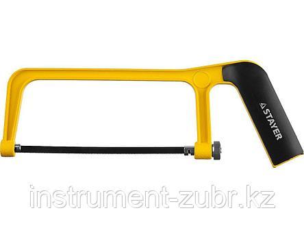 Ножовка по металлу STAYER, 1564, серия PROFESSIONAL, 150 мм, 24 TPI, металлическая рукоятка, фото 2