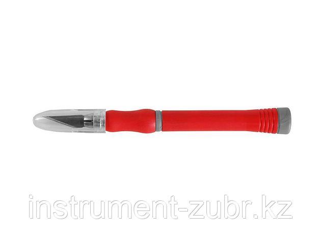 """Набор ЗУБР Нож """"МАСТЕР"""" для художеств. и дизайнер. работ, с перовым лезвием, 2-хкомп. корпус,сталь У8А, 5 лезвий, 6 пред                              , фото 2"""