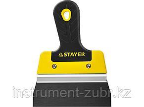 ProFlat фасадный шпатель анодированный 150 мм, 2к ручка, STAYER, фото 2