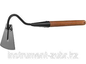"""Мотыжка узкая """"PROLine"""", с тулейкой, с деревянной ручкой, GRINDA 421518, 113х100х575мм"""