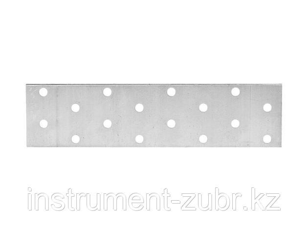 Пластина соединительная, 40х160мм, 20шт, ЗУБР Мастер 310255-040-160, фото 2