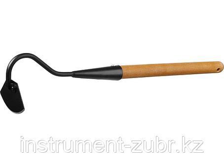 """Мотыжка радиусная """"PROLine"""", с тулейкой, с деревянной ручкой, GRINDA 421520, 65х115х580мм, фото 2"""