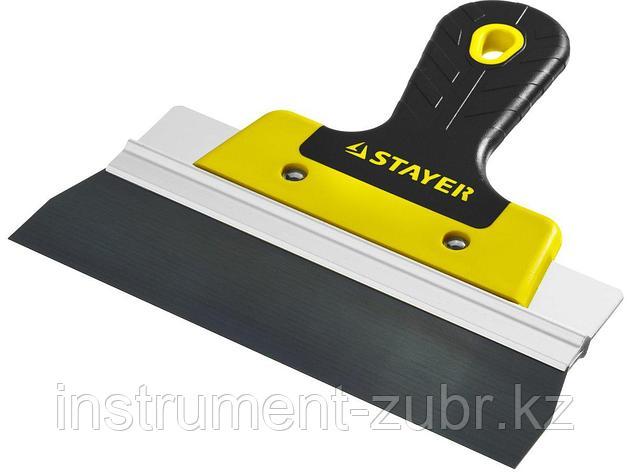 ProFlat фасадный шпатель анодированный 200 мм, 2к ручка, STAYER, фото 2