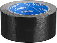 Армированная лента, ЗУБР Профессионал 12096-50-25, универсальная, влагостойкая, 48мм х 25м, черная