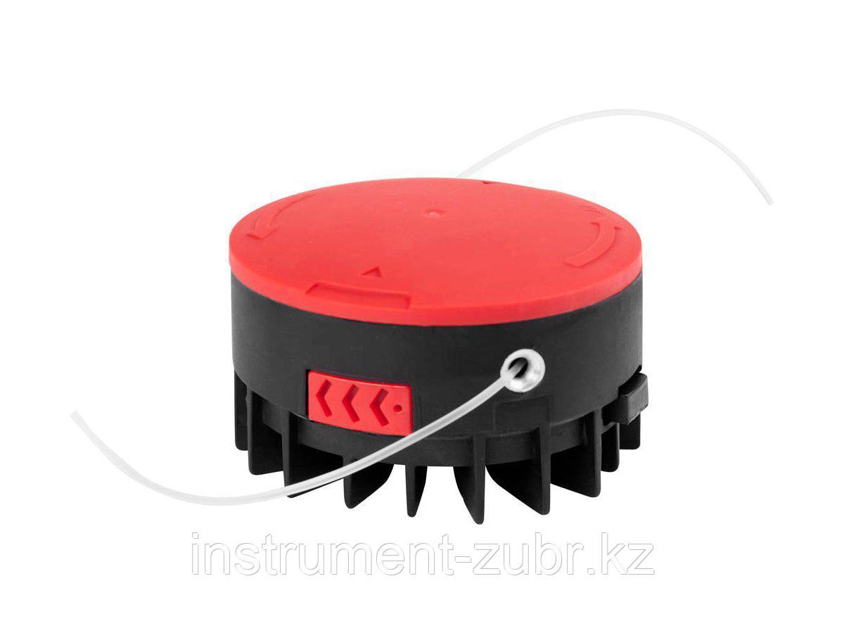 """Катушка для триммера, ЗУБР 70117-1.6, с леской """"круг"""", автомат, для ЗТЭ-550, диаметр лески 1.6 мм, в сборе"""