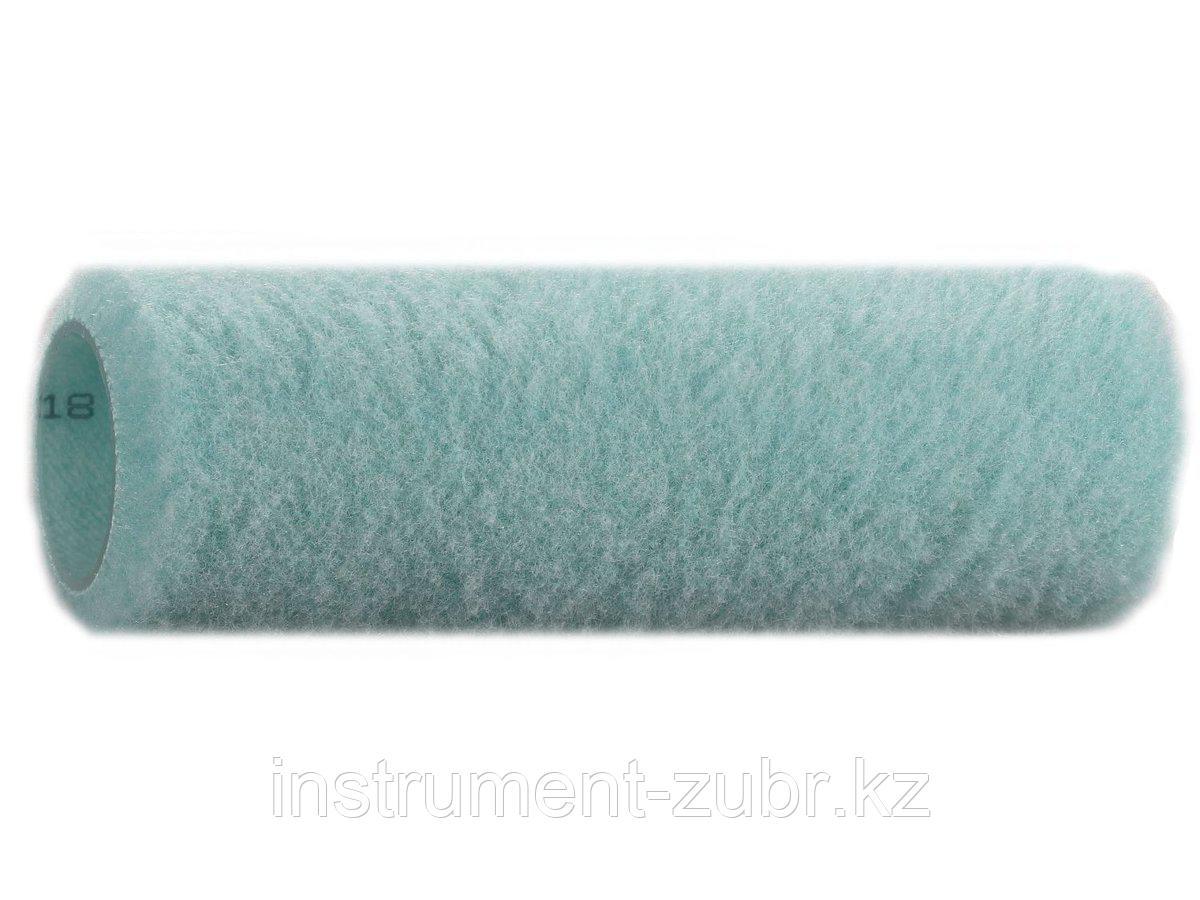 Ролик для малярных валиков KRAFTOOL 1-02007-18, CRELON меховой, зеленый, каркасная система, 180мм