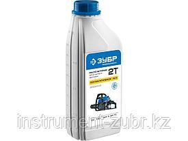 Полусинтетическое масло для 2 тактных двигателей ЗУБР ЗМД-2Т-П, ПРЕМИУМ, (-30С), 1 л