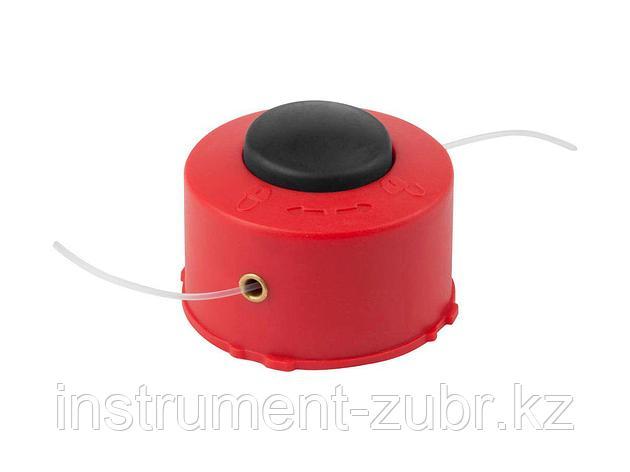 """Катушка для триммера, ЗУБР 70114-1.2, с леской """"круг"""", полуавтомат, для ЗТЭ-250, макс. диаметр лески 1.2 мм, в сборе, фото 2"""