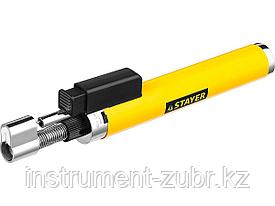 "Газовая горелка-карандаш ""MaxTerm"", STAYER ""MASTER"" 55560, с пьезоподжигом, регулировка пламени, 1100С"