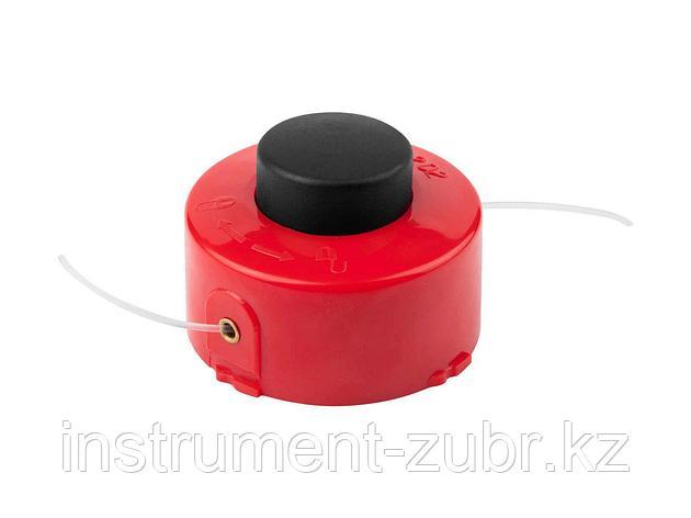 """Катушка для триммера, ЗУБР 70115-1.6, с леской """"круг"""", полуавтомат, для ЗТЭ-350, макс. диаметр лески 1.6 мм, в сборе, фото 2"""