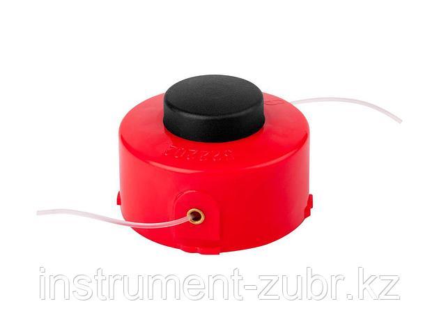 """Катушка для триммера, ЗУБР 70116-1.6, с леской """"круг"""", полуавтомат, для ЗТЭ-450, макс. диаметр лески 1.6 мм, в сборе, фото 2"""
