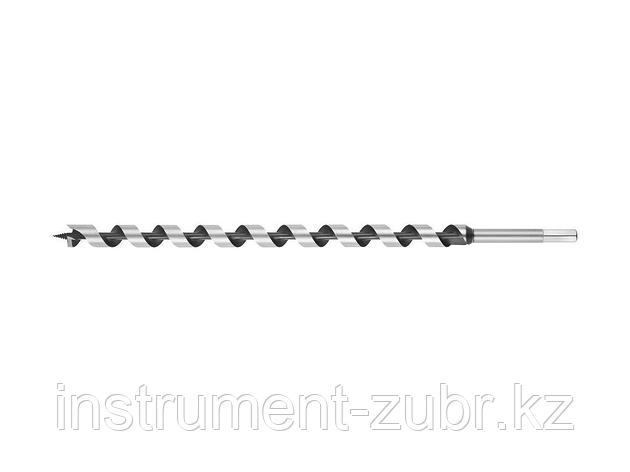 Сверло по дереву, спираль Левиса, HEX хвостовик, URAGAN 29465-450-20, d=20х450мм, фото 2