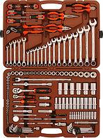 """Набор инструмента универсальный 1/4"""", 3/8"""" и 1/2""""DR, 141 предмет Ombra OMT141S"""