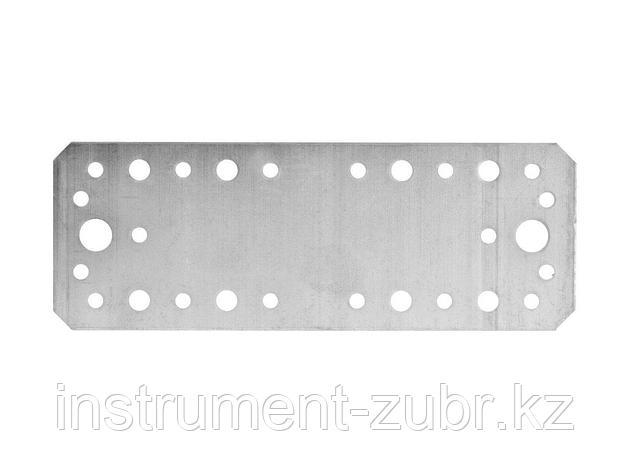Лента перфорированная монтажная оцинкованная ЗУБР МАСТЕР, 180х65мм, 20шт, 310235-180-65, фото 2