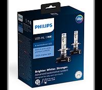 Лампа светодиодная Philips LED H4 X-treme Ultinon 6500K, 2шт, 12901HPX2