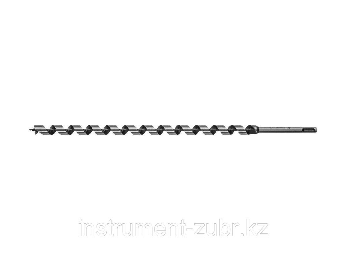 Сверло по дереву, спираль Левиса, SDS-plus хвостовик, ЗУБР Эксперт 29482-450-16, d=16х450мм