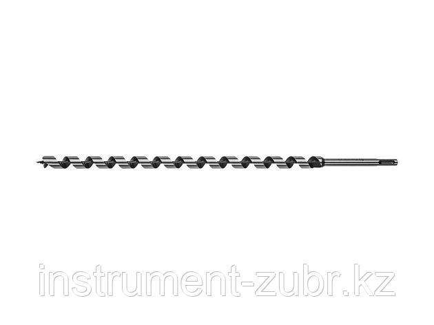 Сверло по дереву, спираль Левиса, SDS-plus хвостовик, ЗУБР Эксперт 29482-450-16, d=16х450мм, фото 2