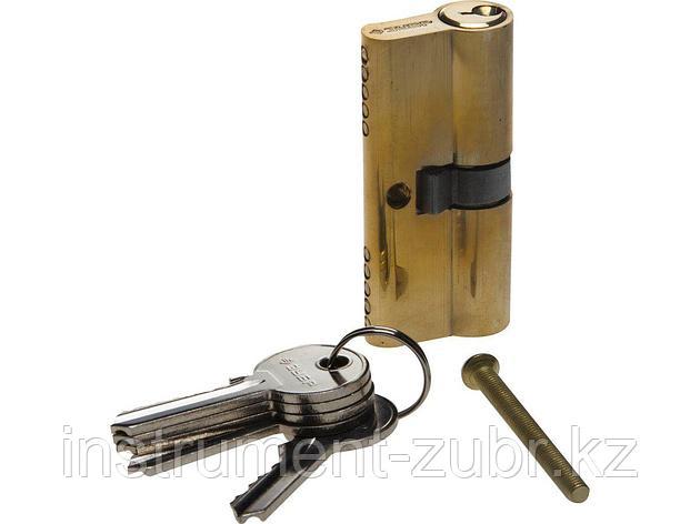 "Механизм ЗУБР ""МАСТЕР"" цилиндровый, тип ""ключ-ключ"", цвет латунь, 5-PIN, 70мм                                                                         , фото 2"