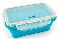 7490 FISSMAN Складной прямоугольный контейнер для хранения продуктов 17x12x6 см / 500 мл (силикон, пластик)