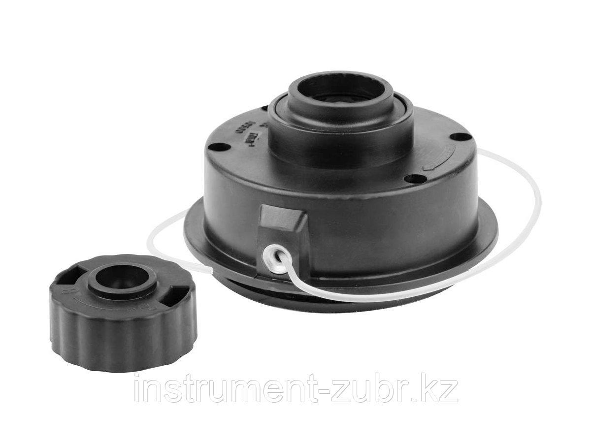 "Катушка для триммера, ЗУБР 70111-2.0, полуавтомат, диаметр лески 2.0мм, ""круг"", посадка М6, для ЗТБ-250"