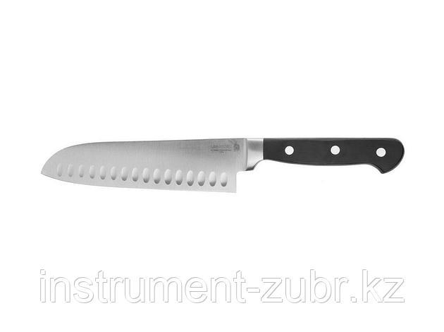 """Нож LEGIONER """"FLAVIA"""" """"Сантоку"""", пластиковая рукоятка, лезвие из молибденванадиевой стали, 200мм                                                      , фото 2"""