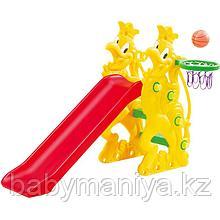 Детская Горка с баскетбольным кольцом CHING CHING ПЕТУШОК