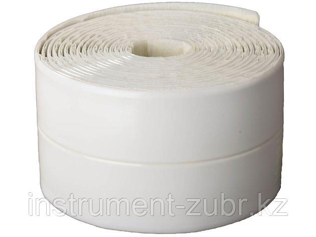Лента бордюрная для ванн и раковин, STAYER Profi 12341-30-30, самоклеящаяся, профиль L, цвет белый, 30 х 30мм х 3,35м, фото 2